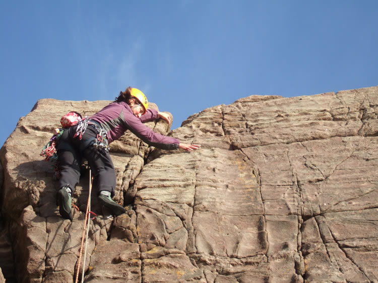 V.Diff finish on Descent Corner, Reiff sea cliffs, West Coast Scotland