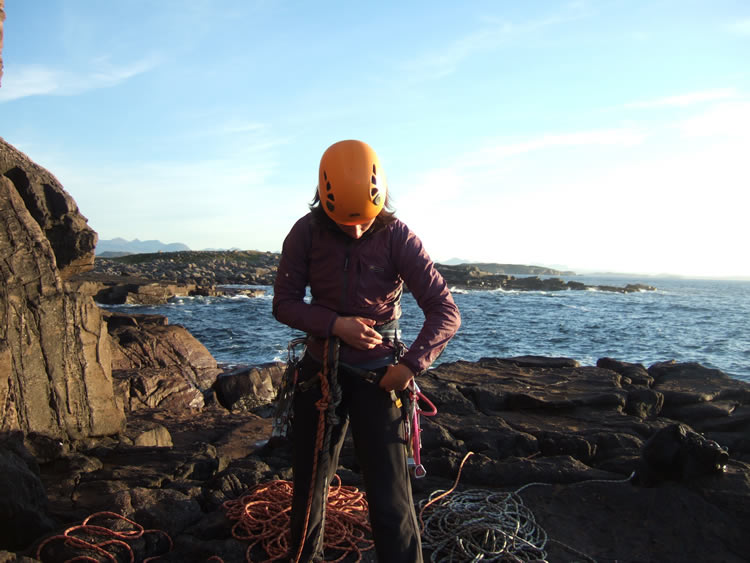 Racking up at Reiff sea cliffs, West Coast Scotland