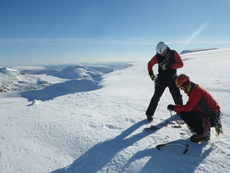 Racking up at Coire an Lochain, Aonach Mor, Scottish Highlands