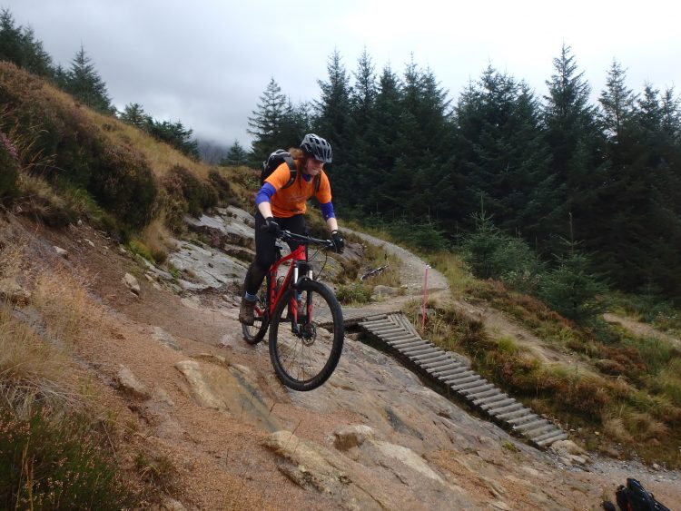 Getting the right line on The World Champs, Nevis Range, Mountain Biking Scotland