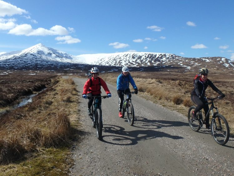 Mountain Biking towards Loch Ossian